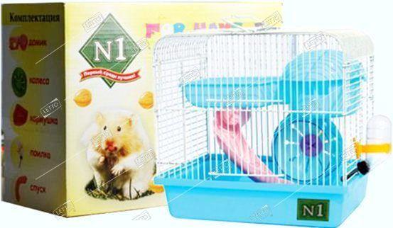 Клетка для хомяка прямоугольная, укомплектованная в подарочной упаковке 27*20,5*25,5 см — цена в LETTO