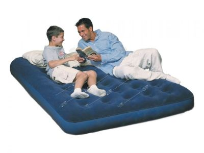 Надувной матрас Flocked Air Bed - Air Pump(Double) 191*137*22 см, электронасос в комплекте 67287